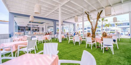Ravintola. Hotelli Oceanis Park, Ixia, Rodos, Kreikka.