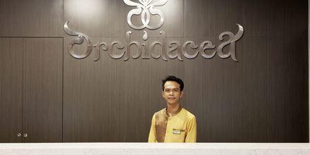 Vastaanotto. Hotelli Orchidacea Resort, Kata Beach, Phuket, Thaimaa.
