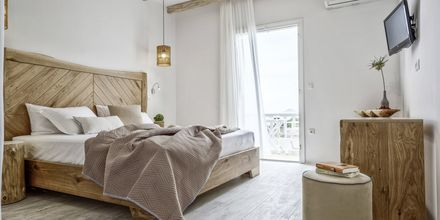 Perhehuone, hotelli Orkos Beach, Naxos.