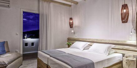 Kahden hengen huone, hotelli Orkos Beach, Naxos.