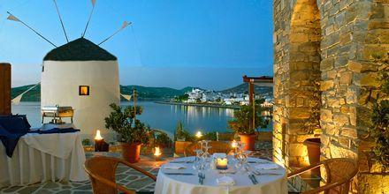 Hotelli Pandrossos, Paros, Kreikka.