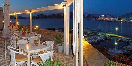 Ravintola. Hotelli Pandrossos, Paros, Kreikka.
