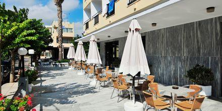 Ulkoilmaterassi. Hotelli Paritsa, Kosin kaupunki, Kreikka.