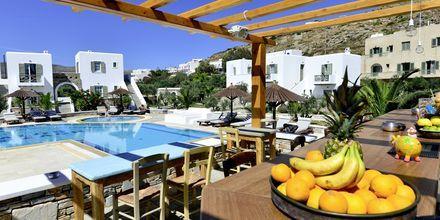 Allasbaari hotellilla Yialos, joka on Petros Placen asiakkaiden käytössä.