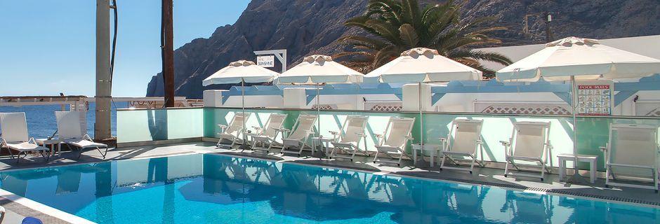 Hotelli Poseidon Beach, Kamari, Santorini.