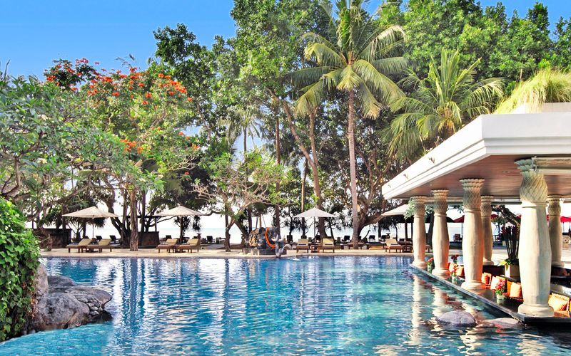Uima-allas, Puri Santrian, Sanur, Bali.