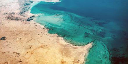 Qatar sijaitsee Persianlahdella ja sillä on 700 kilometriä rannikkoa.