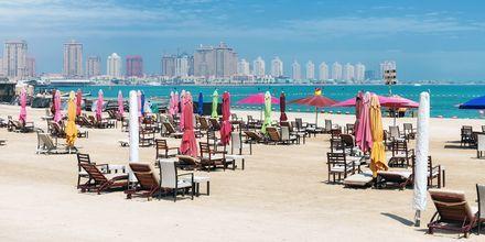 Yleinen uimaranta Dohan keskustassa, Qatar.