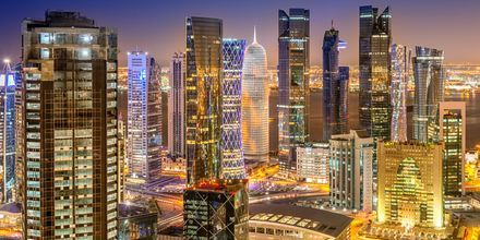 Pääkaupunki Doha on moderni ja ylellinen suurkaupunki.