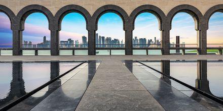 Islamilaisen taiteen museo on Qatarin tunnetuin museo. Kuvassa yksityiskohtia rakennuksesta.