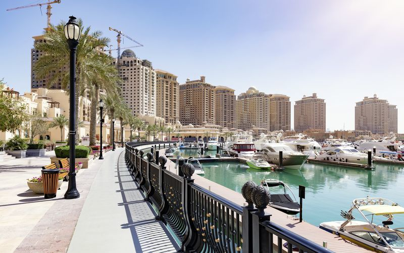 The Pearl on keinotekoinen saari Dohassa, Qatar.