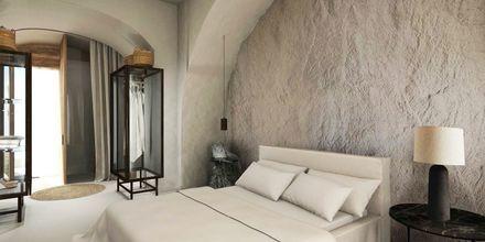 Yhden hengen huone/kahden hengen huone, hotelli Radisson Blu Zaffron Resort. Kamari, Santorini.