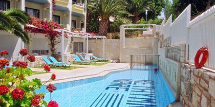 Perhehuone jaetulla altaalla, Hotelli Rethymno Mare Resort, Kreeta.