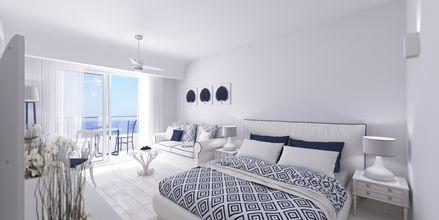 Kahden hengen huone. Hotelli Rethymno Palace, Rethymnon, Kreeta, Kreikka.