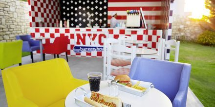 Snackbaari NYC Burger, Hotelli Rethymno Residence, Kreeta.