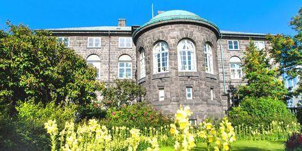 Parlamenttitalo Reykjavikissa, Islannissa.