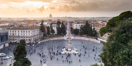 Piazza del Popolo, suosittu ranta Roomassa.
