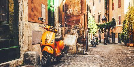 Mukava naapurusto Roomassa, Italiassa.
