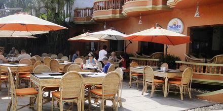 Ravintola, Hotelli Ruffles Beach Resort, Pohjois-Goa, Intia.