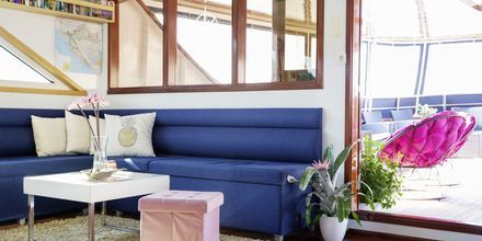 Moderneilla veneillä on kauniit yksityiskohdat ja viihtyisät tilat rentoutumista varten.
