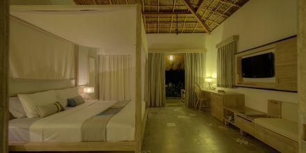 Deluxe -huone bungalowissa, hotelli Mia Mui Ne Resort. Phan Thiet, Vietnam.
