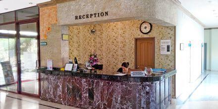 Vastaanotto. Hotelli Sailor, Alanya, Turkki.