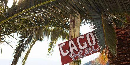 Gagou Beach on suosittu ranta Samoksen kaupungissa.