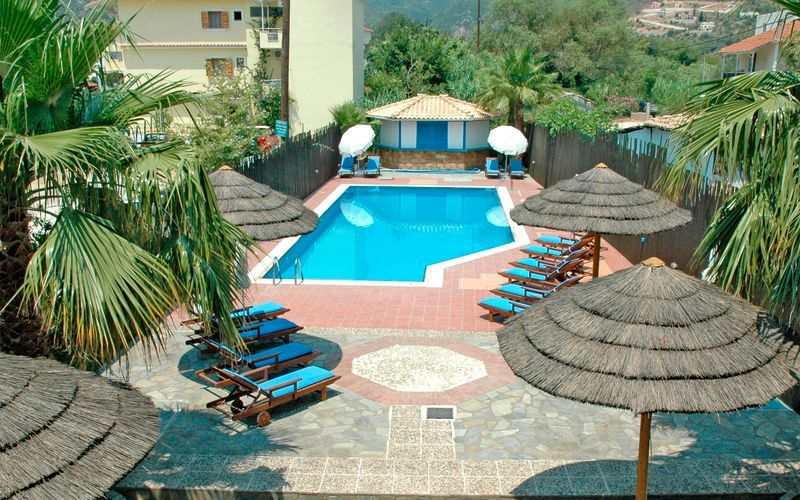 Allasalue. Hotelli Santa Maura, Lefkas, Kreikka.