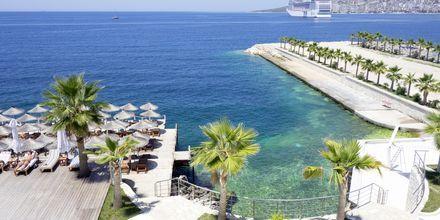 Läheinen ranta. Hotelli Santa Quaranta, Saranda, Albania.