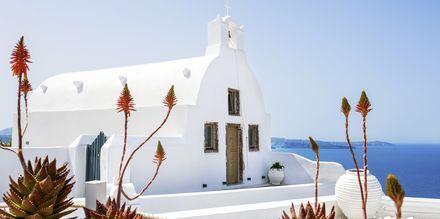 Kirkko. Oia, Santorini, Kreikka.