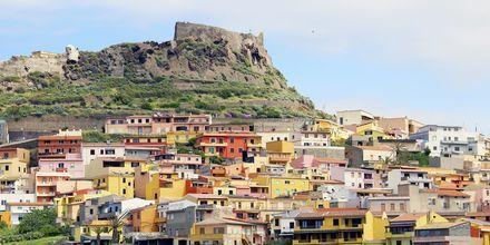 Castelsardon kaupunki, Sardinia.
