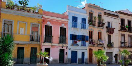 Cagliarin kaupunki, Sardinia.
