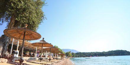 Ranta. Hotelli Scheria Island, Korfu, Kreikka.