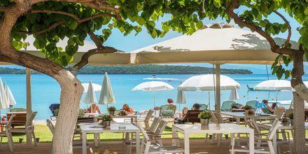 Snackbaari, Hotelli Seaview, Lefkas, Kreikka.