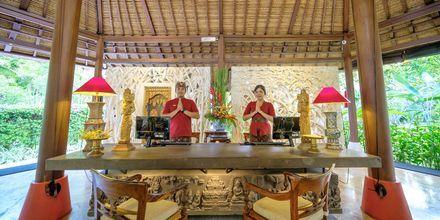 Aula, hotelli Segara Village. Bali, Indonesia.