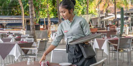 Hotellin kahvila, hotelli Segara Village. Bali, Indonesia.