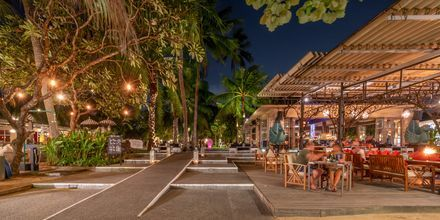 Ravintola, hotelli Segara Village. Bali, Indonesia.