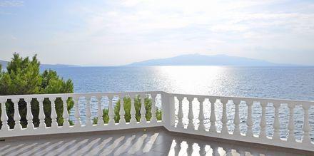 Näköala hotellilta. Hotelli Sejko, Saranda, Albania.