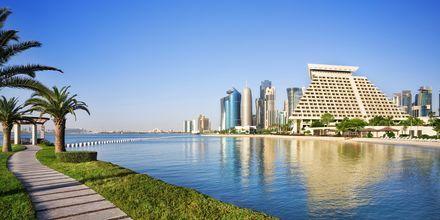 Hotellin ympäristöä. Sheraton Grand Doha Resort, Doha, Qatar.