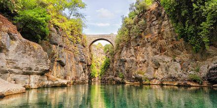 Manavgatin joki, Turkki.
