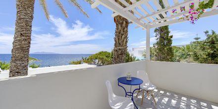 Terassi. Hotelli Sigalas, Santorini, Kreikka.