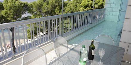 Näkymä huoneistosta, Hotelli Simic, Makarska, Kroatia.