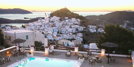 Allas. Hotelli Skala, Ios, Kreikka.
