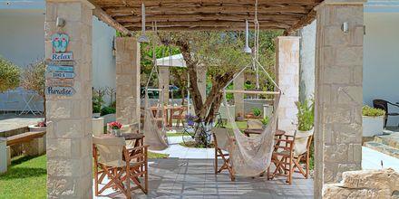 Ravintola. Hotelli Sonio Beach, Platanias, Kreeta, Kreikka.