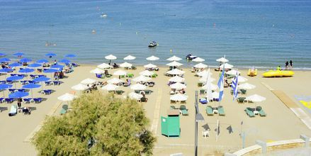 Läheinen ranta. Hotelli Steris, Rethymnonin kaupunki, Kreeta, Kreikka.