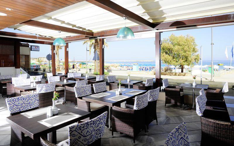 Ravintola. Hotelli Steris, Rethymnonin kaupunki, Kreeta, Kreikka.