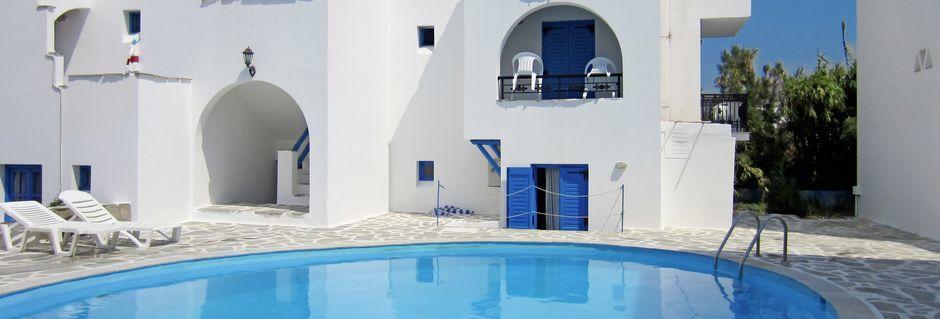Allas, hotelli Sunny Beach Studios. Naxos, Kreikka.