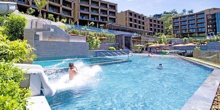 Vesiliukumäkiä, hotelli Sunsuri Phuket. Nai Harn, Phuket.