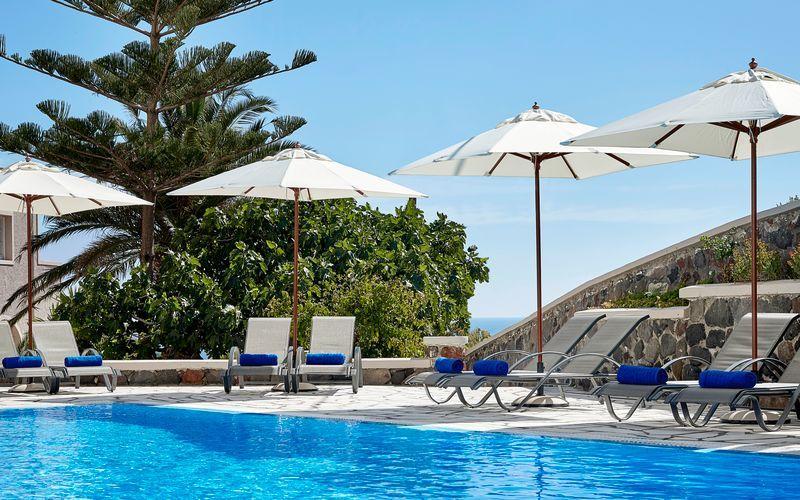 Hotelli Terra Blue, Kamari, Santorini, Kreikka.