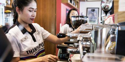 Booster Deli and Café. Thanyapura Sport & Health Resort, Thalang, Thaimaa.